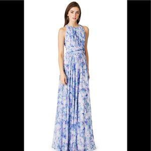 Badgley Mischka Watercolor Maxi Dress / Size 2